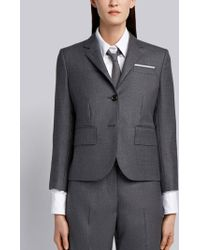 Thom Browne - Center-back Stripe Sport Coat In Solid Wool Twill - Lyst