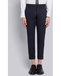 Thom Browne - Unconstructed Low Rise Trouser In Cotton Twill - Lyst