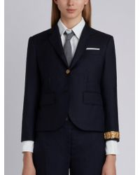 Thom Browne | Classic Single Breasted Sport Coat With Wristwatch Applique In Super 120's Twill | Lyst