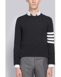Thom Browne - Contrast Stripe Sweater - Lyst