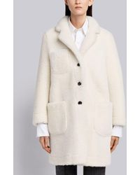 Thom Browne - Reversible Dyed Shearling Sack Overcoat - Lyst
