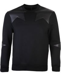 Neil Barrett - Star Neoprene Jumper Black - Lyst