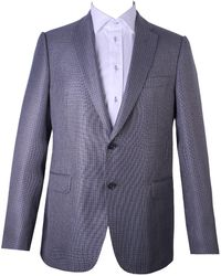 Armani - Checkered Pattern Suit Grey - Lyst