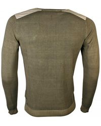Armani Jeans - Military Green Cotton Jumper - Lyst
