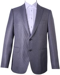 Armani - Chequered Pattern Suit Grey - Lyst