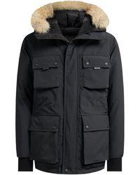 Belstaff - Expedition Fur Hood Coat Black - Lyst