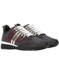 DSquared² - Dsquared Lace-up Low Top Trainers Grey - Lyst