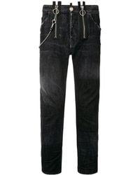 DSquared² - Buckle Skater Jeans Black - Lyst