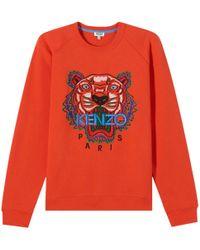 KENZO - Tiger Sweatshirt Orange - Lyst