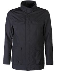 Armani - Quilted Shell Jacket Navy - Lyst