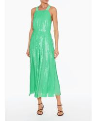 Tibi - Sequined Overall Dress - Lyst