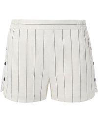 Tibi - Viscose Stripe Shorts - Lyst