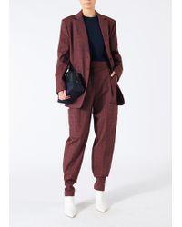 Tibi - Menswear Check Oversized Blazer - Lyst