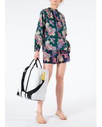 Tibi - Paisley On Cotton Pull On Shorts - Lyst