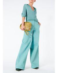 Tibi - Garment Dyed Twill Wide Leg Jean - Lyst