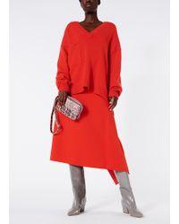 Tibi - Bond Stretch Knit Origami Wrap Skirt - Lyst