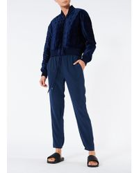 Tibi - Quilted Velvet Cropped Jacket - Lyst