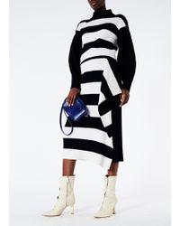 Tibi - Stripy Merino Wool Jumper Origami Flap Skirt - Lyst