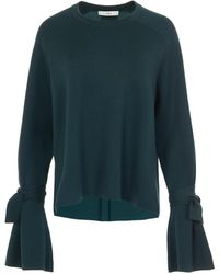 Tibi - Merino Wool Silk Combo Sweater - Lyst