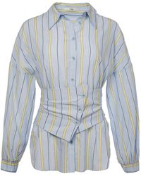 Tibi - Striped Shirt With Removable Corset Belt - Lyst