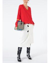 Tibi - Mora Suiting Asymmetrical Flap Skirt - Lyst
