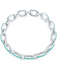 Tiffany & Co. - Tiffany Blue® Clasping Link Bracelet - Lyst