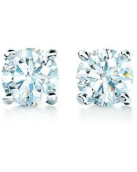 Tiffany & Co. - Tiffany Solitaire Diamond Earrings In Platinum - Lyst