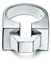 Tiffany & Co. - Out Of Retirementtm Block Ring In Sterling Silver - 6 - Lyst