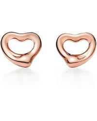 7a1e0a0d2 Tiffany & Co. Elsa Peretti® Open Heart Hoop Earrings In Sterling Silver,  Small in Metallic - Save 12% - Lyst