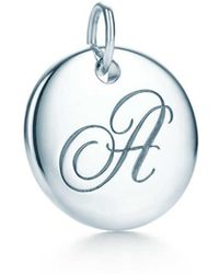 Tiffany & Co | Tiffany Notes Alphabet Disc Charm In Silver, Small Letters A-z Available - F | Lyst