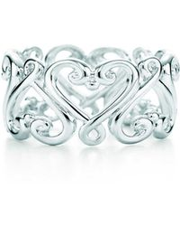 Tiffany & Co. - Goldoni Heart Band Ring - Lyst