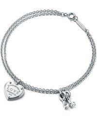Tiffany & Co. - Love Heart Tag Key Bracelet - Lyst