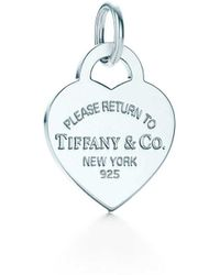 Tiffany & Co. - Return To Tiffanytm Heart Tag Charm In Sterling Silver, Medium - Size None - Lyst
