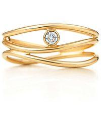 Tiffany & Co. - Wave Three-row Diamond Ring - Lyst