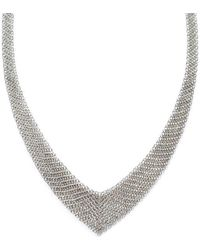 9f7fed456 Tiffany & Co. Elsa Peretti® Pearls By The Yardtm Necklace In Sterling Silver  With Pink Pearls in Metallic - Lyst