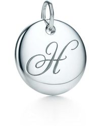 Tiffany & Co. - Tiffany Notes Alphabet Disc Charm In Silver, Small Letters A-z Available - F - Lyst