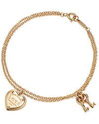 Tiffany & Co. - Return To Tiffanytm Love Heart Tag Key Bracelet In 18k Gold, Small - Lyst