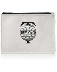Tiffany & Co. - Tiffany Travel Flat Pouch In Canvas, Medium - Lyst