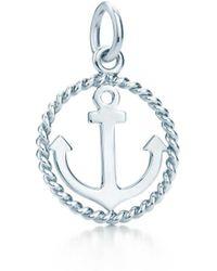 Tiffany & Co. - Tiffany Twist Anchor Charm In Sterling Silver, Small - Lyst