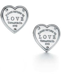 Tiffany & Co. - Return To Tiffanytm Love Earrings In Sterling Silver - Lyst