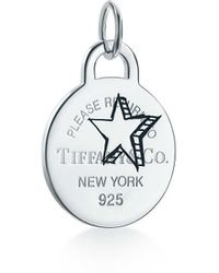 Tiffany & Co. - Return To Tiffanytm Etched Star Round Tag Charm In Sterling Silver, Large - Lyst
