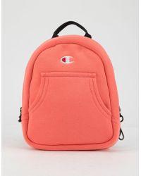 Champion - Reverse Weave Convertible Pink Mini Backpack - Lyst e60cd14b621b7