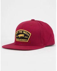 8032b88c3ea Lyst - Vans Rebel Riders Hat Blossom in Pink for Men