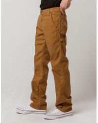 e2e2b52eab779 Dickies - Flex Regular Fit Straight Leg Tough Max Stonewashed Brown Duck  Mens Duck Carpenter Pants