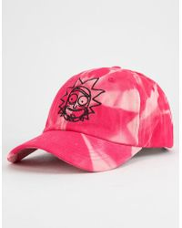 Primitive - X Rick And Morty Rick Washed Pink Mens Dad Hat - Lyst