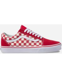 d231efafbf9363 Lyst - Vans Old Skool Racing Red Checkerboard Sneaker in Red for Men