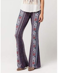 af22ab3afdd Belle lily Plus Size Floral Striped Wide Leg Pants