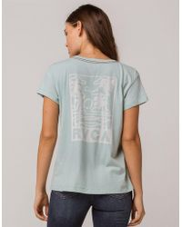 RVCA - Couple Fun Blue Womens Pocket Tee - Lyst