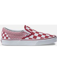 b0a7c8c3b3f Vans - Mix Checker Classic Slip-on Chili Pepper   True White Shoes - Lyst