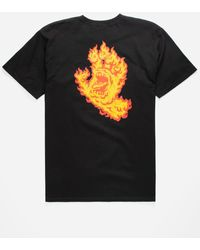 Santa Cruz - Flame Hand Mens T-shirt - Lyst